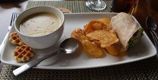 Cork hotel soup waffles